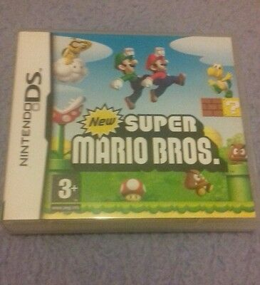 New Super Mario Bros DS Case Only!!! (Nintendo DS) Case+Manuels+Inserts.