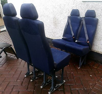 4 seats double plus two single minibus seat & belts FITTED UNWIN QR floor fixing