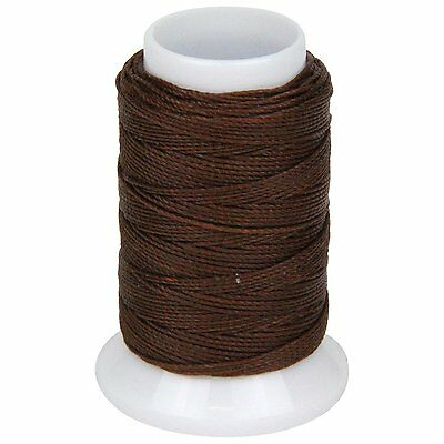 SEIWA W Waxing Sawing Thread #0 50m Brown Polyester Leather Craft Tool New