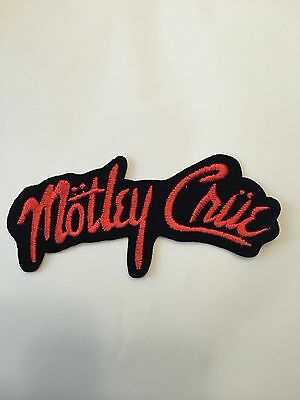 Motley Crue Metal Band Red and Black Embroidered Patch Iron on or Sew on