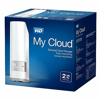 WD White My Cloud Personal Cloud Storage 2TB NAS Server RRP£130