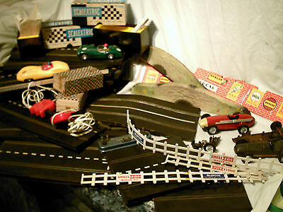 Vintage Collection Of Scalextric Slot Cars & Track Some Tinplate Cars