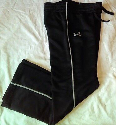 Under Armour Youth large gym pants Black Silver Warm Jogging