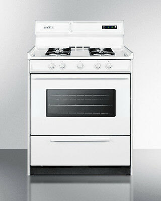 Summit Gas Oven and Stove Deluxe, WNM2307KW