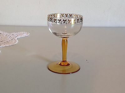 Antique Glass Set - With Gilt Design