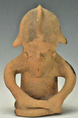 Ancient Pre Columbian Jamacoaque Ceramic Figure Circa 500 AD
