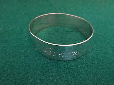 "Antique Sterling Silver Napkin Ring ""xmas 1893"" Nr!"