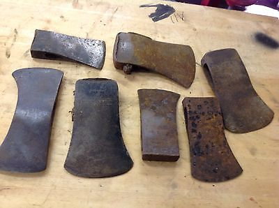 Vintage Axe,  Head Lot Of 7, some marked