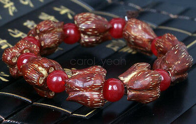 """8mm Natural Lotus Seed Unbleached Round 108 Bodhi Beads 36"""" Strand Oz Seller"""