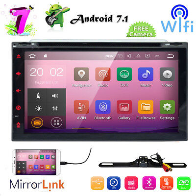 "7"" Android 6.0 Double 2 Din Car DVD Stereo Radio GPS Wifi 4G OBD2 Mirror BT Link"