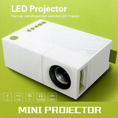 Mini Portable YG310 LCD Projector  Home Cinema Theater 400 Lumens Support 1080P