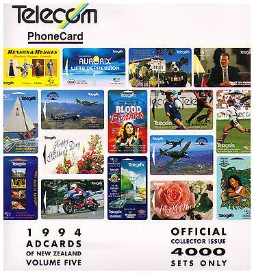 1994 Telecom New Zealand Phone Card Pack - Ad Cards Volume Five