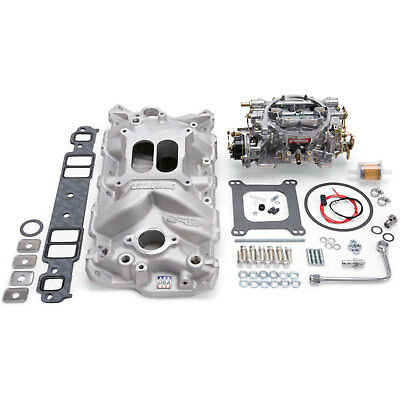 Edelbrock EPS Intake Manifold and 1406 Carburetor Kit Small Block Chevy 1955-86
