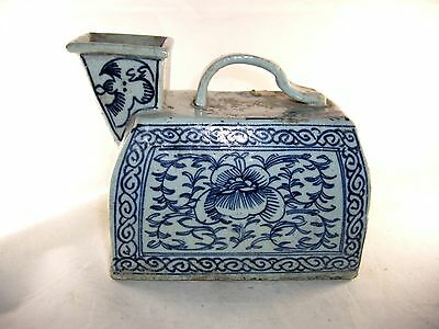 Chinese Blue White Chamber Pot  Antique