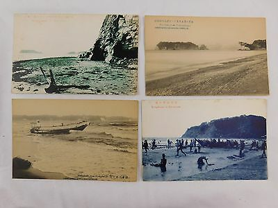 C.1910 Lot of 6 Meiji Era Japanese Vintage Town Scenes Views Postcards P29