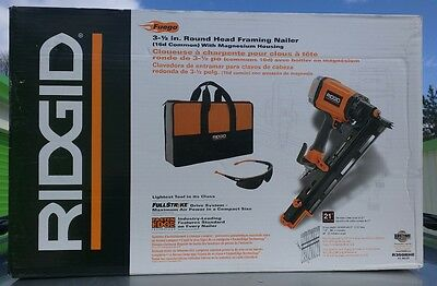 Ridgid R350RHE 21 Degree 3-1/2 in. Round-Head Framing Nailer. BRAND NEW IN BOX!!
