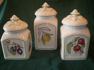 Villeroy & Boch China CASCARA Set 3 CANISTERS Excellent Condition