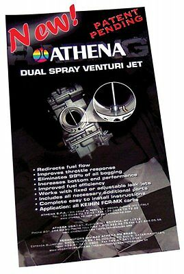 Athena P400000180002 Dual Spray Venturi Jet Kit 4 Keihin FCR-MX Carburetors