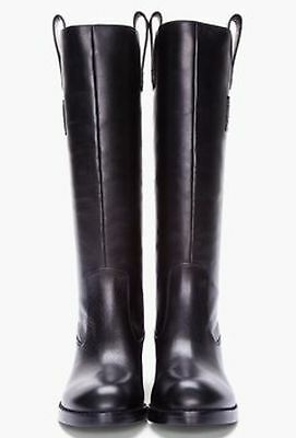 Marc By Marc Jacobs Black Leather Riding Boots Size 38