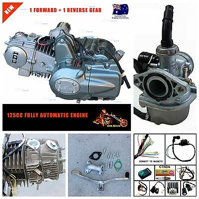 Automatic + Reverse Gear 125cc Engine w' Wiring harness for ATV Quad Bike Buggy