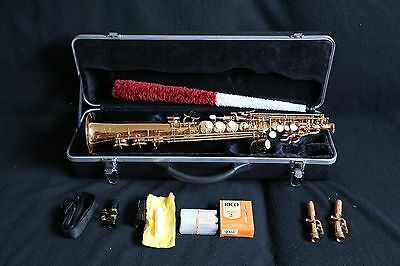 Excellent Windsor Soprano Saxophone Bronze Lacquer with hard case, Hardly Used
