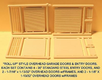 """N Scale: """"ROLL-UP"""" STYLE OVERHEAD DOORS & ENTRIES by MICRO-ENGINEERING #80-204"""