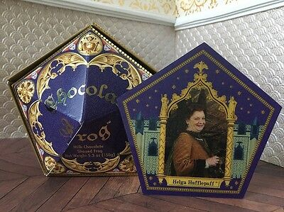 Harry Potter Wizardjng World Chocolate Frog Box And Helga Hufflepuff Card