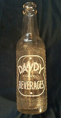 """Scarce Canadian (Toronto, Ont) """"dandy Beverages"""" 7 Oz Embossed Bottle- White Acl"""