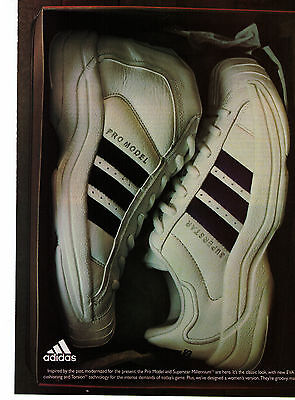 "Adidas 'Pro Model"" Basketball Shoes  Vintage Print Advertisement"