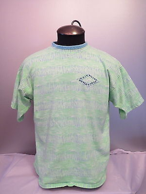 Vintage Quicksilver Shirt - World Force - Green and Blue Tie Dye - Men's Small