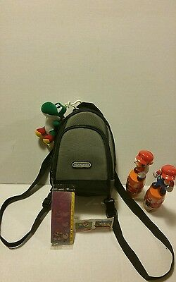 Nintendo Mini-Backpack Lot With Yoshi Keychain & Vintage Stickers & More!!!