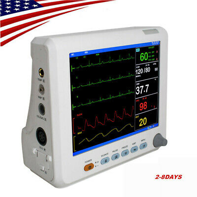 Portable Vital Signs Patient Monitor 6-Parameters Hospital ICU CCU Monitor-8inch