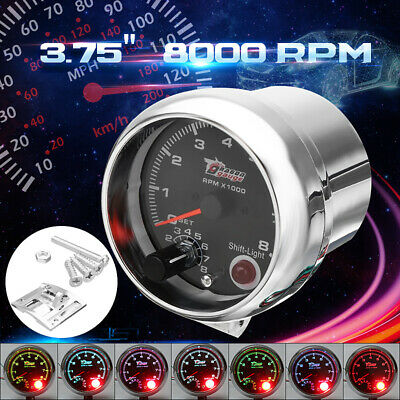 "12V Universal Car vehicle 3.75"" Tachometer Tacho Gauge W/ Shift Light 0-8000RPM"