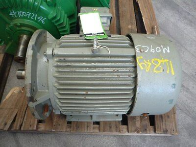 Toshiba 15Hp 3 Phase Flange Electric Motor/ 2900Rpm