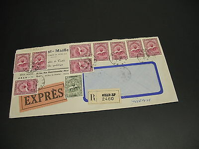 Algeria 1970 expres registered cover to Germany *22090