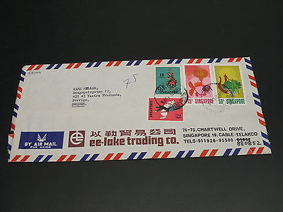 Singapore 1972 airmail cover to Sweden *23079
