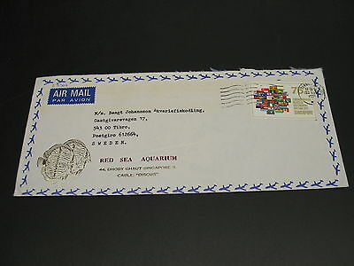 Singapore 1971 airmail cover to Sweden *23069