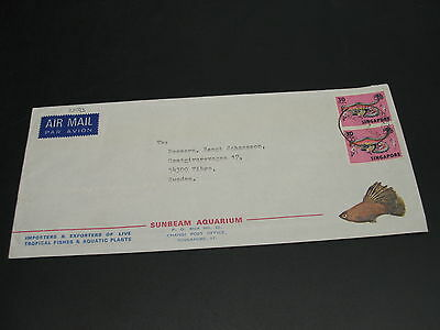 Singapore 1972 airmail cover to Sweden *23073