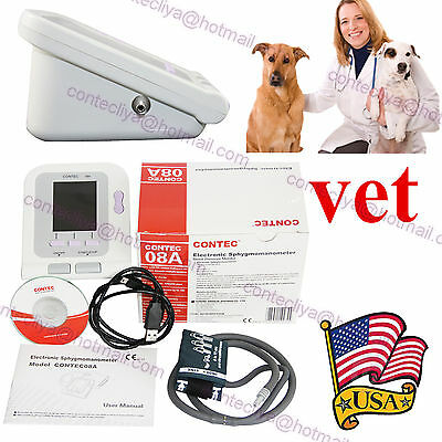 NEW color LCD Digital Blood Pressure Monitor, NIBP+VET cuff+PC SW, Care for pets