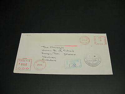 UK 1987 postage due cover to Finland *22372