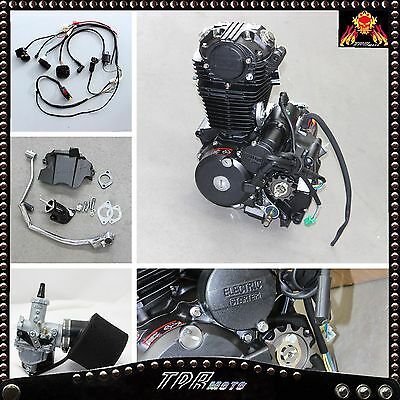 250cc Dirt Bike Engine Motor OHC Complete Electrics Wiring Harness Kit + Carby