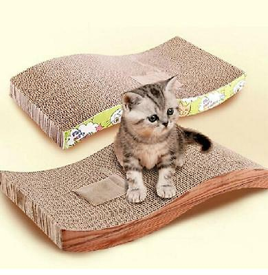 2x Pet Scratch Board S-shapped Cat Scratching Post Kitten Corrugated Scratch Pad