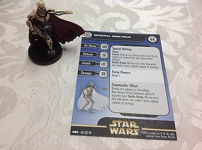 Star Wars Miniature with stat card ultra rare General Grievous 40/60