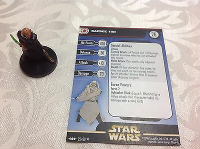 Star Wars Miniature with stat card Saesee Tiin 25/60