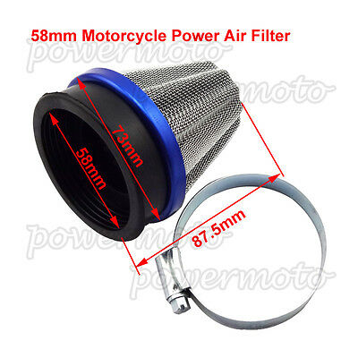 58mm Power Cone Air Filter Cleaner Overall Length Including Neck 88mm Motorcycle
