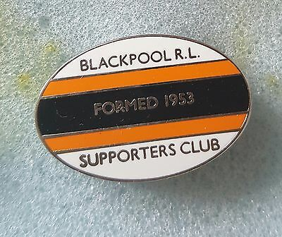 Blackpool rugby league supporters club badge 60th ann