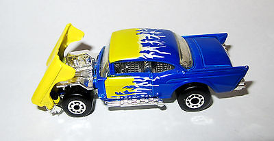 MINT Matchbox Superfast '57 Chevy Muscle Car mb 4 NO PLAY Shiny Silver Base