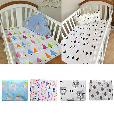 Nursery Toddler Baby Crib Fitted Sheet Cot Bedding Sheets Mattress Pads/Covers
