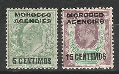 Morocco Agencies Spanish Currency 1907 Kevii 5C And 15C