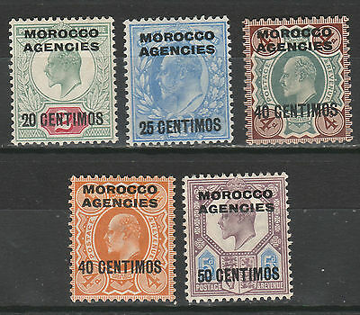 Morocco Agencies 1907 Kevii Spanish Currency Range To 50C
